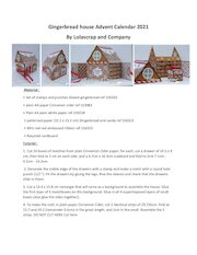 translated to english gingerbread and peppermint advent calendar