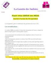 la gazette des sudistes flash infos greve reas heh 30 septembre