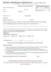 bulletin de candidature 2021
